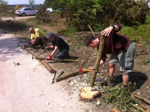 The team making hedge posts